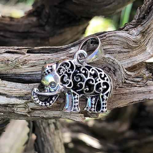 Silver Elephant Small Pendant