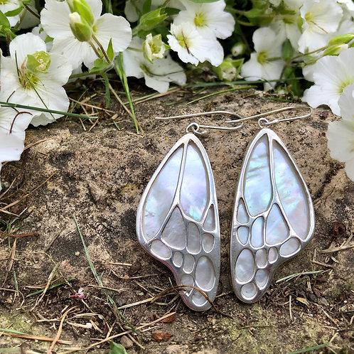 Mother of Pearl Butterfly Wing Earrings