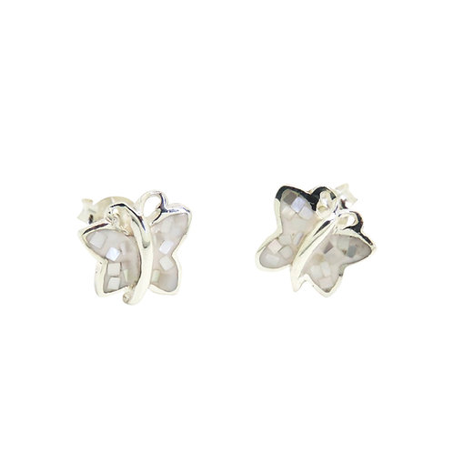 Mother of Pearl Mosaic Butterfly Studs