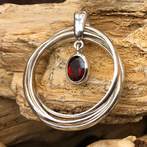 Garnet Russian Ring Pendant
