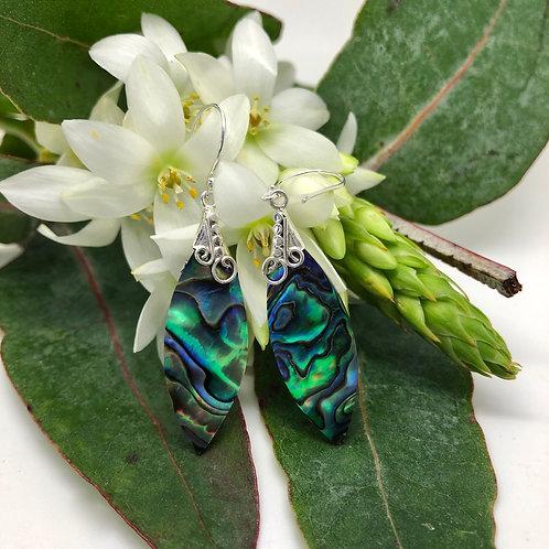 Abalone Navette Earrings