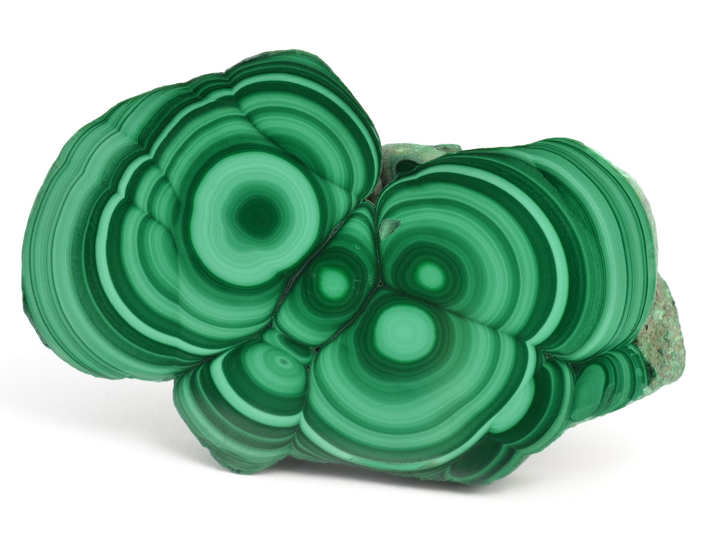 Malachite slice