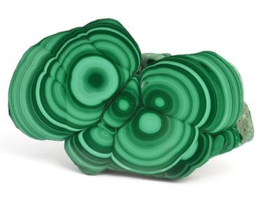 Malachite slice