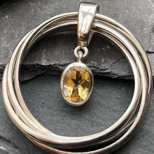 Citrine Russian Ring Pendant