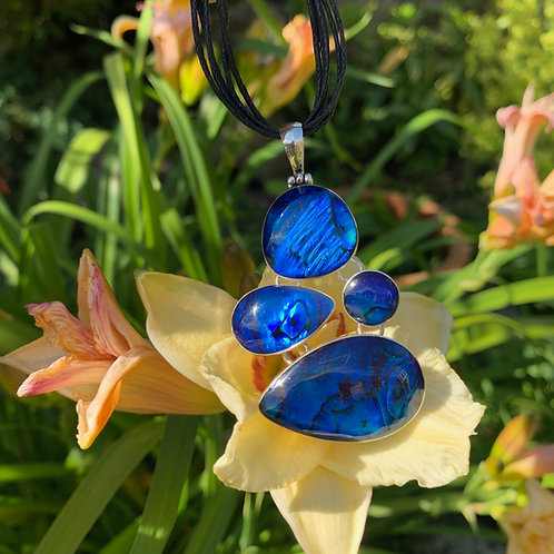 Abalone Blue 4-piece Pendant