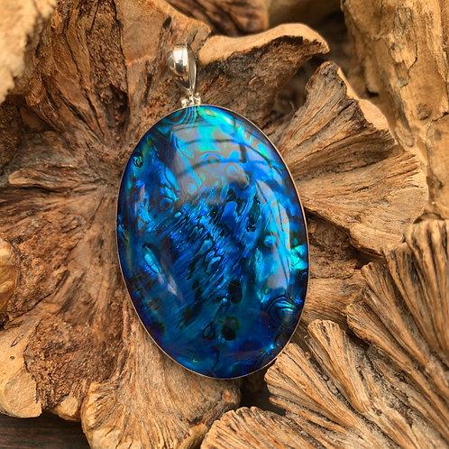 Abalone Blue Oval Pendant