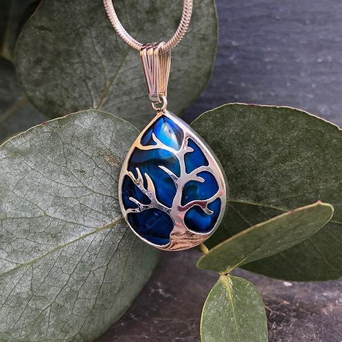 Abalone Small Tree of Life Pendant