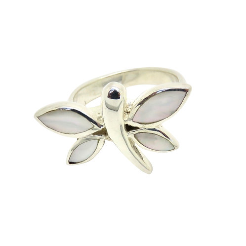 Mother of Pearl Dragonfly Ring