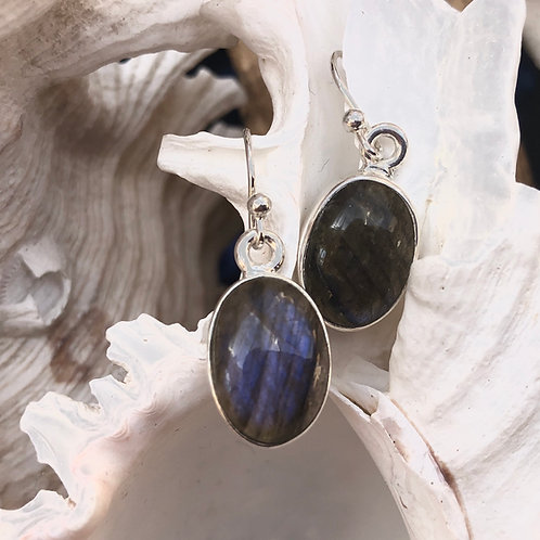 Labradorite Oval Earrings