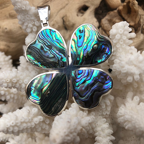 Abalone 4 Leaf Clover Pendant