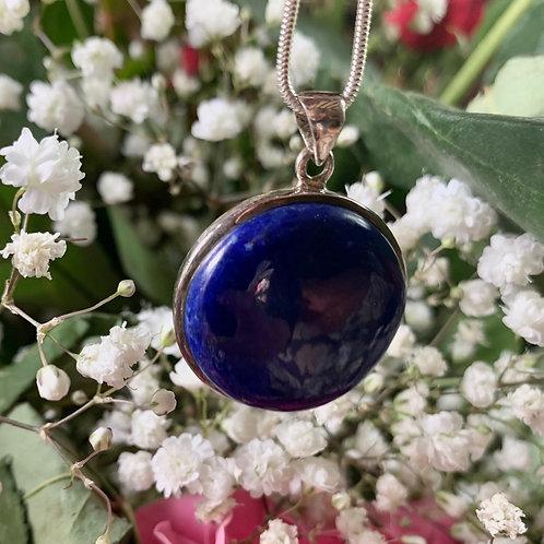 Lapis Lazuli Circle Pendant