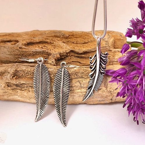 Silver Feather Set
