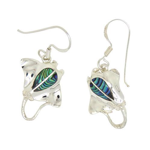 Abalone Manta Ray Earrings
