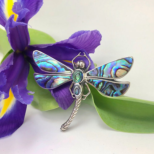 Abalone Dragonfly Brooch
