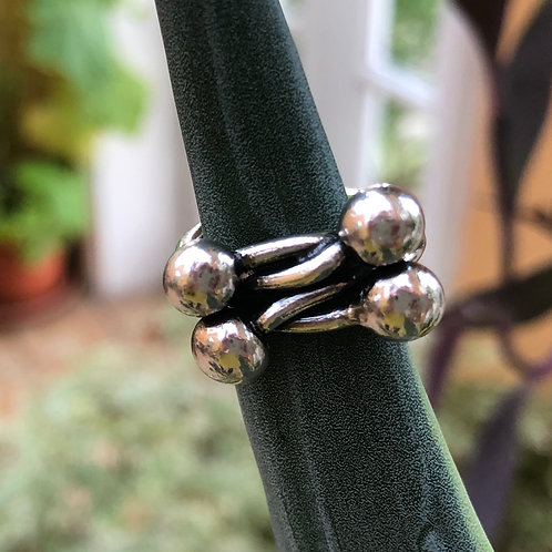 4 Ball Silver Ring
