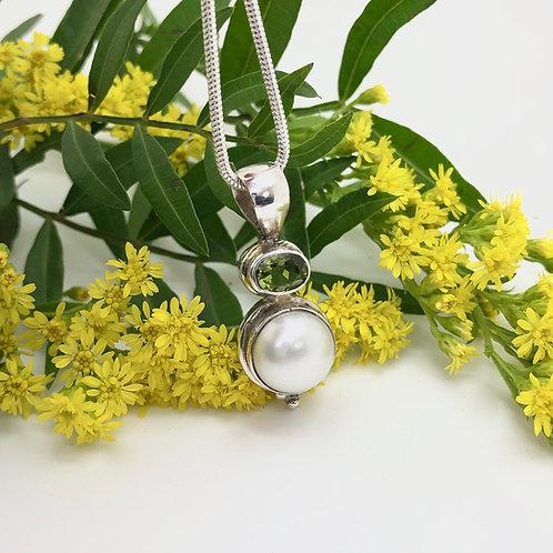 Pearl & Peridot Pendant