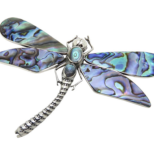 Abalone Large Dragonfly Pendant/Brooch