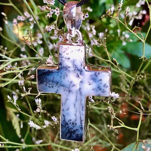 Dendritic Agate Cross