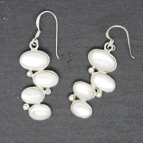 Mother of Pearl Bobble Earrings