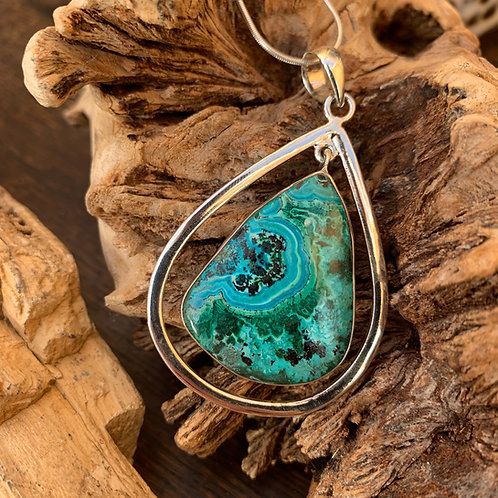 Chrysocolla Malachite Swing Pendant