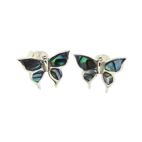 Abalone Shell Butterfly Studs