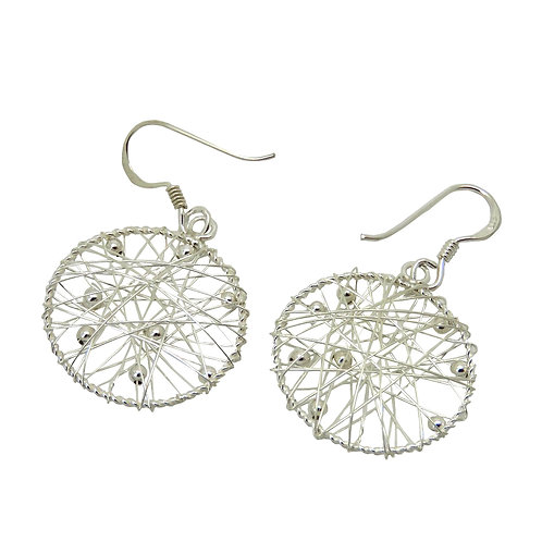 Silver Wire Circle Earrings