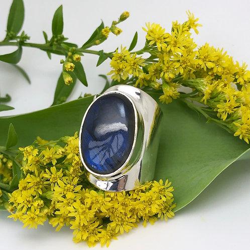 Labradorite Large Oval Ring
