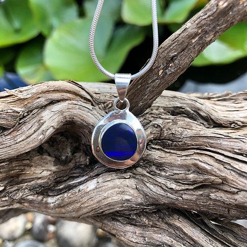 Lapis Lazuli & Silver Small Pendant