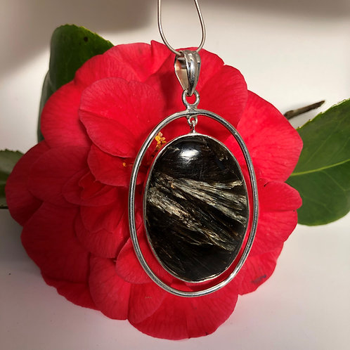 Golden Black Seraphinite Swing Pendant