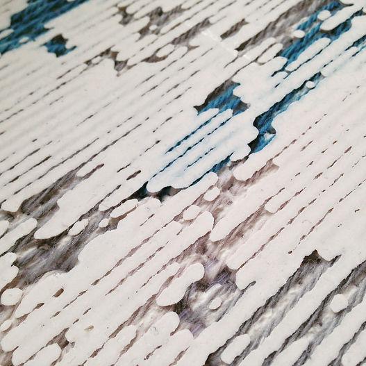 Material Explorations - Jesmonite and yarn