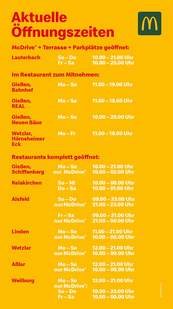 McDonalds Mittelhessen Öffnungszeiten.jp