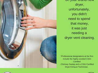 Before you buy a new dryer, book a dryer vent cleaning first
