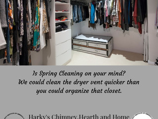 Spring Cleaning you get the closer we'll get the dryer vent