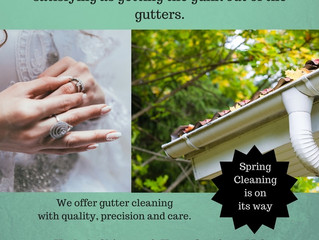 Preparing for spring cleaning: getting the gunk out of those gutters