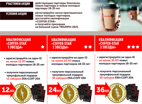 АКЦИЯ «СТАНЬТЕ COFFER-STAR TRIUMPH-2021»
