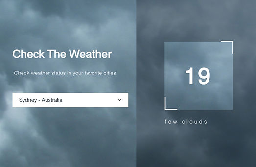 Create a Weather Widget