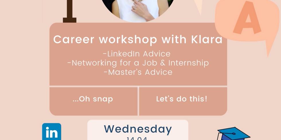 Career Workshop with Klara