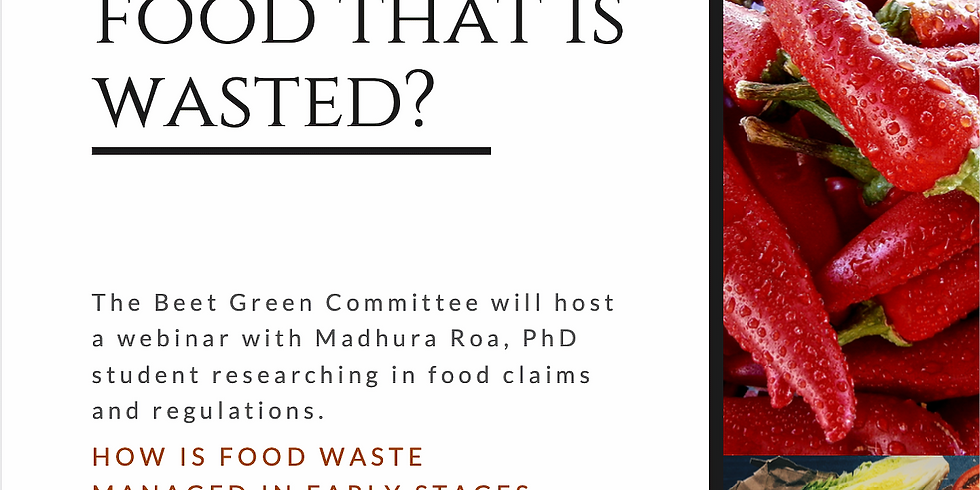 What happens to food that is wasted? - Webinar