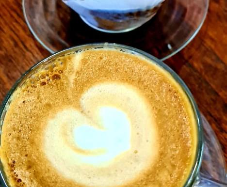 Rhubarb Custard Muffin and Coffee $10!