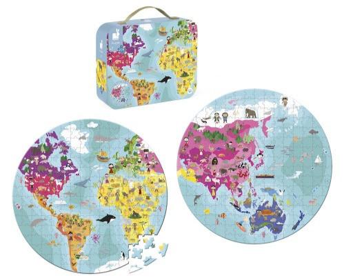 פאזל דו צדדי 208 חלקים העולם