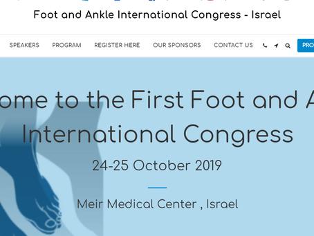 כנס אורתופדים כף רגל וקרסול בינלאומי בישראל