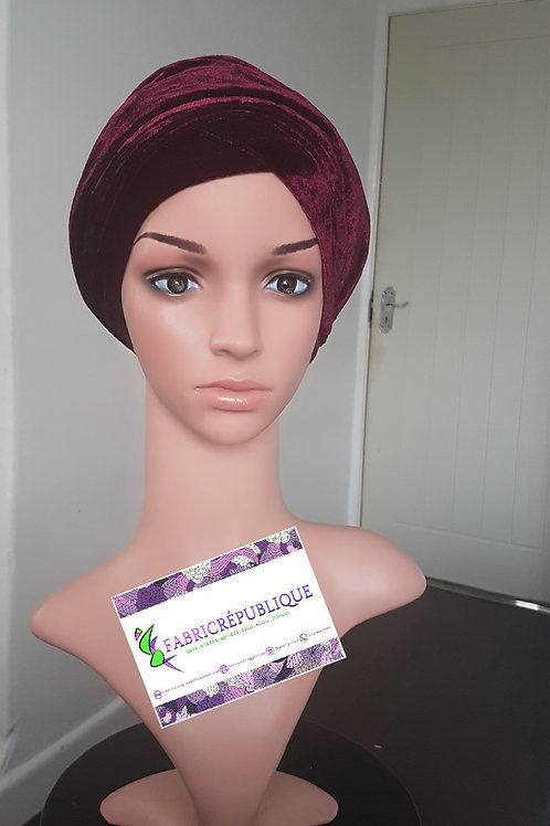 Velvet Single Head Wrap Turban