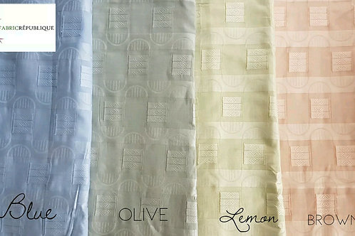 Swiss Cotton Atiku Jacquard Fabric - Mustafa Collection