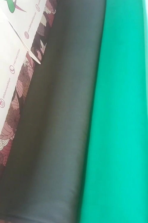 Italian Cotton Fabric - Mat Collection - Green Shades
