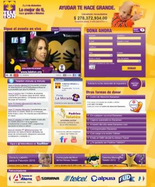 Telethon event website