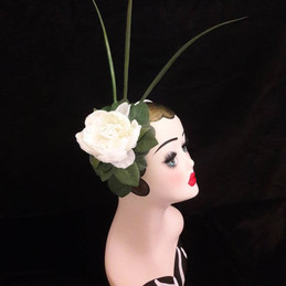 ivory cream floral fascinator
