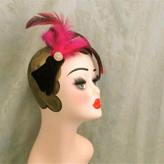 pink feathered and jewel vintage fascina