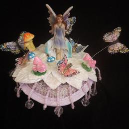 Fairy garden fascinator fairy and toadst