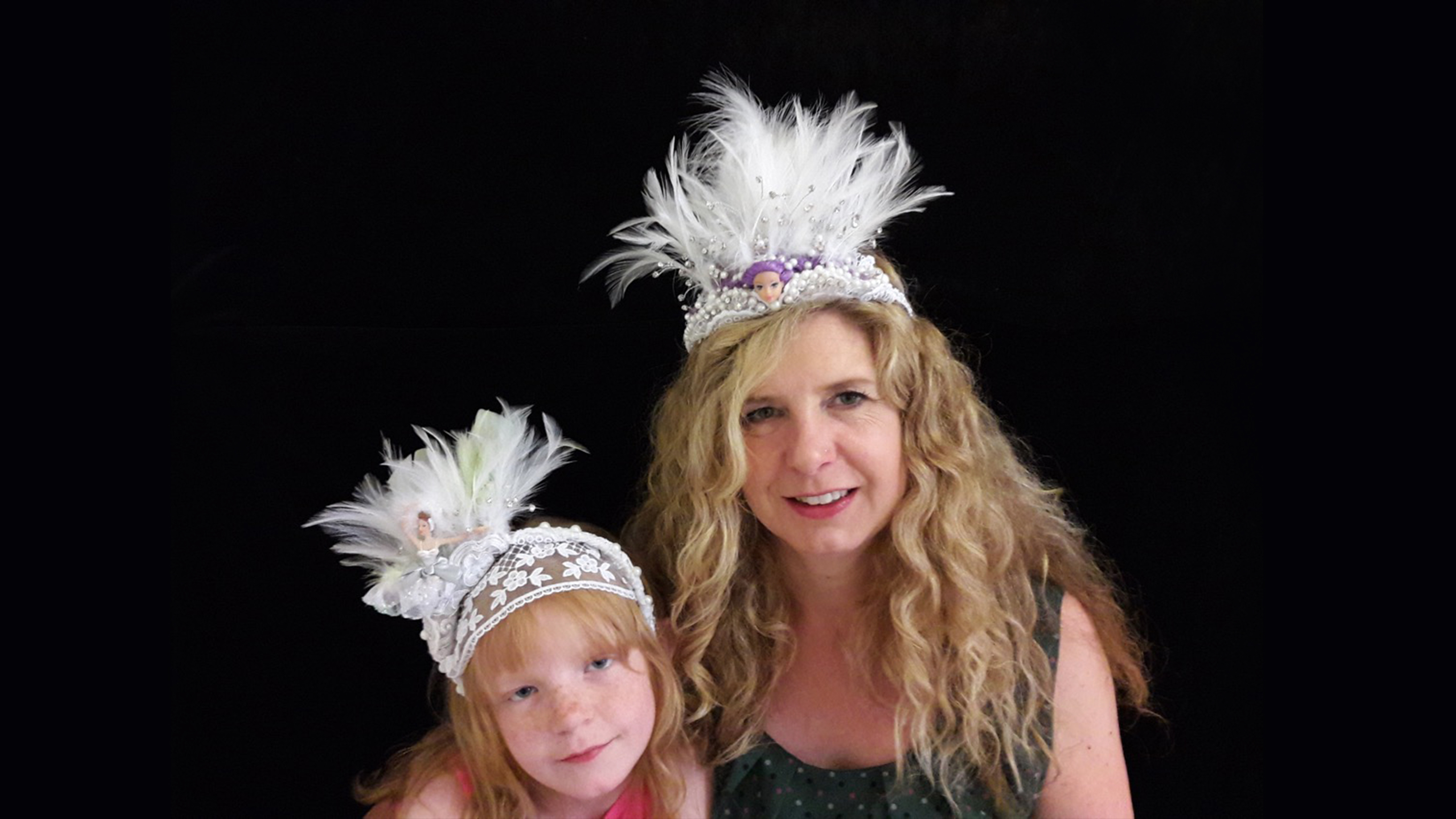 feathered tiara hair accessory