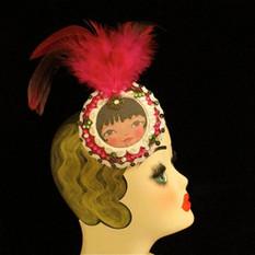 Burlesque headdress, show girl head piec